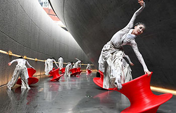 Dance show held at former steel plant in Beijing
