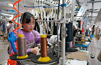 Textile industry helps increase locals' income in Suning, China's Hebei