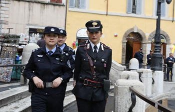 China sends 10 police officers to Italy for joint patrol