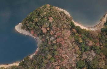 Aerial view of Taiping Lake scenic spot in east China