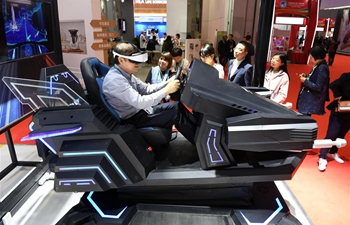People visit Sci-tech Life exhibition area during 2nd CIIE
