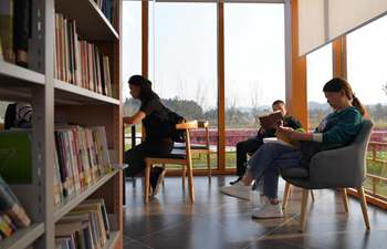 A glance of public library in China's Jiangxi