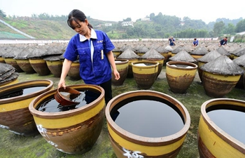 In pics: traditional method to make vinegar in Chishui, SW China