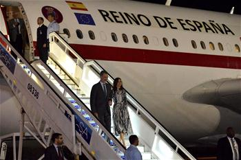 Spanish king arrives in Havana, Cuba