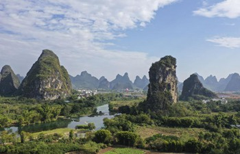 Scenery of Yangshuo County in China's Guangxi
