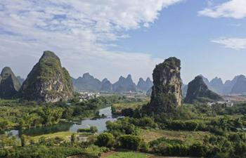 Scenery of Yangshuo County in China's Guangxi