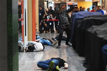 Anti-terrorist exercise held in Singapore's Velocity shopping mall