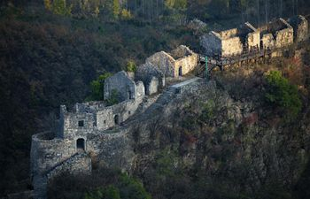 View of remains of Chunqiu Village in C China's Hubei