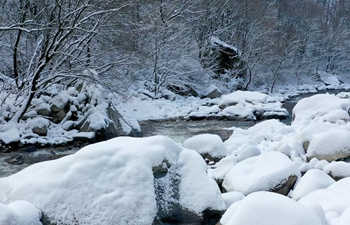 Snow scenery in Qinling Mountains in Xi'an, China's Shaanxi