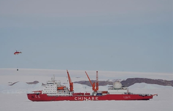 China's icebreakers unload cargos for Zhongshan Station in Antarctica