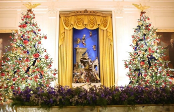 Christmas decorations seen at White House