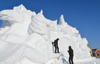 International snow sculpture competition held in Hulun Buir, N China