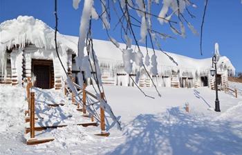Snow scenery in Yakeshi City, N China's Inner Mongolia