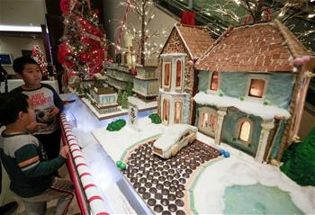 Over 30 gingerbread house creations displayed in Vancouver, Canada