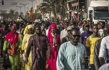 People protest raise of electricity price in Dakar, Senegal