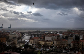 Stormy weather hits Rijeka, Croatia