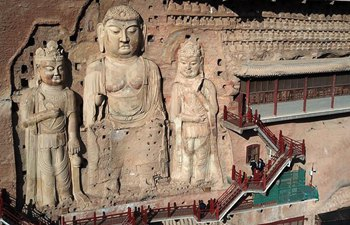 In pics: Maiji Mountain Grottoes in Tianshui, China's Gansu