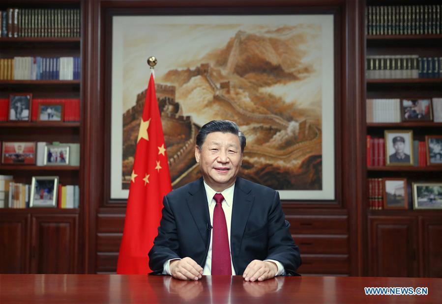 CHINA-BEIJING-XI JINPING-NEW YEAR SPEECH (CN)