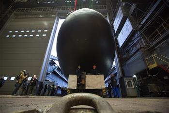 Diving ceremony of submarine Volkhov held in St. Petersburg