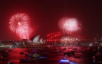 New Year's Eve fireworks display in Australia's Sydney