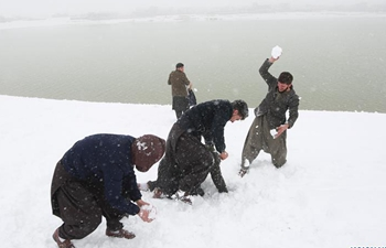 Heavy snowfall provides joy to citizens in Kabul