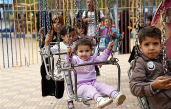 Open day held for war-affected children at amusement park in Sanaa, Yemen