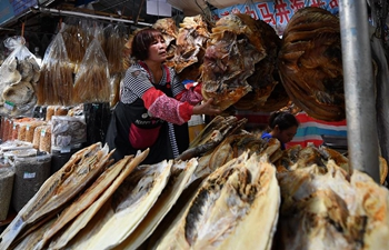 People in Haikou busy shopping for upcoming Spring Festival