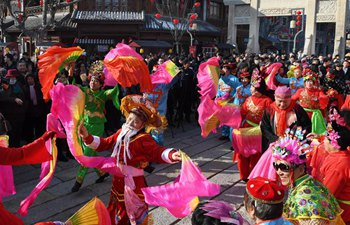 Cultural event held in Qingdao to greet Spring Festival