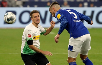 German Bundesliga football match: FC Schalke 04 vs. Borussia Monchengladbach