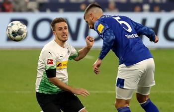 German Bundesliga football match: FC Schalke 04 vs. Borussia Monchengladbach