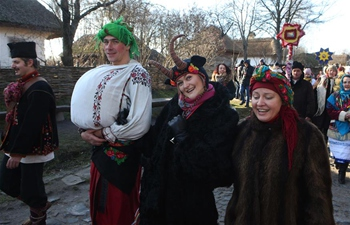 Orthodox Epiphany celebrations marked in Kiev, Ukraine
