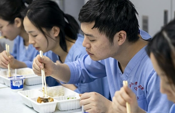 In pics: medical workers' meals on Chinese Lunar New Year's Eve in Wuhan