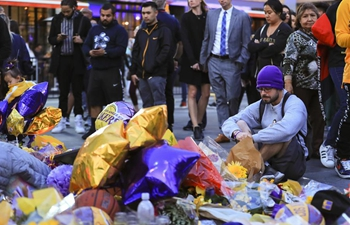 Mourners pay respect to Kobe Bryant in Los Angeles