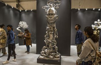 India Art Fair 2020 held in New Delhi, India
