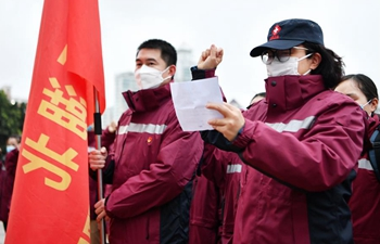 100 clinical nurses in Fujian leave for Wuhan to aid novel coronavirus control