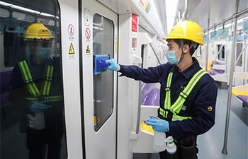 Shanghai Metro increases frequency of cleaning, disinfection in carriages