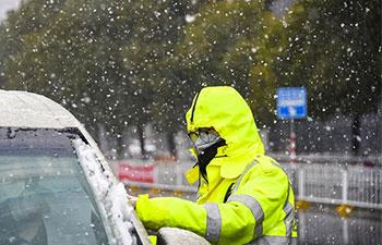 Epidemic-hit Xiaogan witnesses snowfall