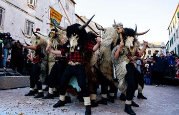 Carnival parade held in Sinj, Croatia