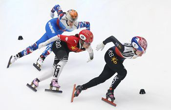 Highlights of women's 1,000 meters second race at ISU World Cup Short Track