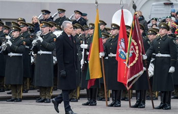 Lithuania marks 102nd independence anniversary