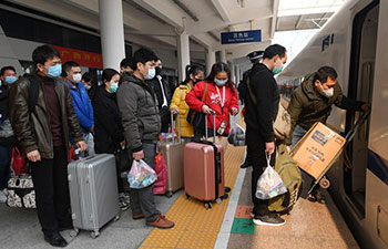 Customized train carries returning workers from Baise to Guangdong