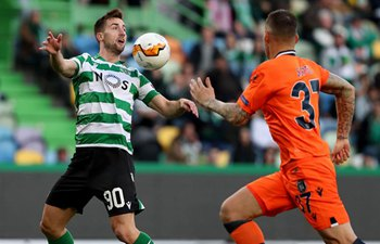 Sporting CP compete with Istanbul Basaksehir at UEFA Europa League