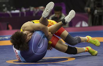 Highlights at Asian Wrestling Championships (Feb. 21)