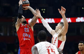 Euroleague basketball match: Crvena Zvezda vs. CSKA