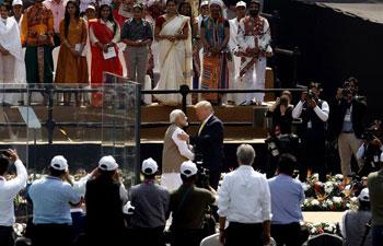 Trump arrives in New Delhi for key talks with Modi