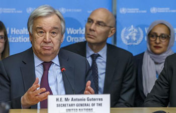 UN chief praises China's contribution to global fight against COVID-19