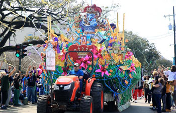 Krewe of Mid-City parade held in New Orleans, U.S.