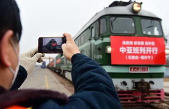 Cargo train service resumes between Shijiazhuang, Central Asia