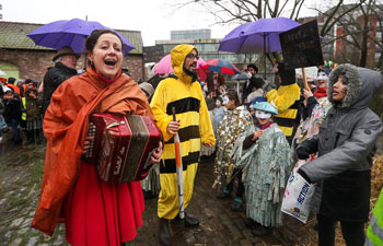 """Carnival themed """"nature and climate"""" held in Brussels"""