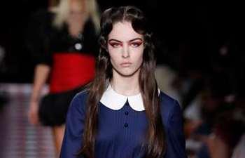 Creations by Miu Miu presented during fashion show in Paris